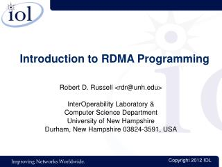 Introduction to RDMA Programming