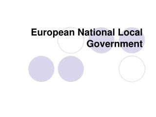 European National Local Government