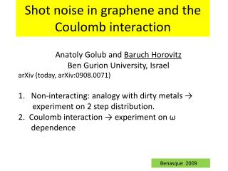 Shot noise in  graphene  and the Coulomb interaction