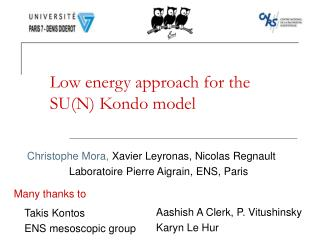 Low energy approach for the SU(N) Kondo model