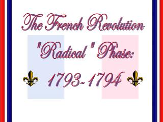 "The French Revolution ""Radical"" Phase: 1793-1794"