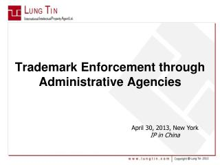 Trademark Enforcement through Administrative Agencies