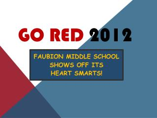 GO RED  2012