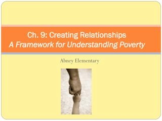 Ch. 9: Creating Relationships A Framework for Understanding Poverty