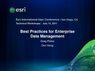 Best Practices for Enterprise Data Management