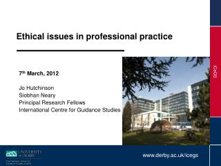 Ethical issues in professional practice