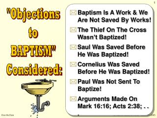 """Objections  to  BAPTISM""  Considered:"