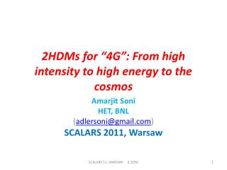 "2HDMs for ""4G"": From high intensity to high energy to the cosmos"