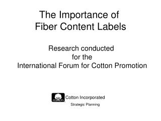 The Importance of  Fiber Content Labels