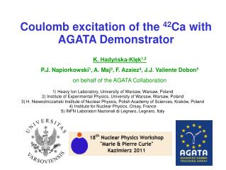 Coulomb excitation of the  42 Ca with AGATA Demonstrator