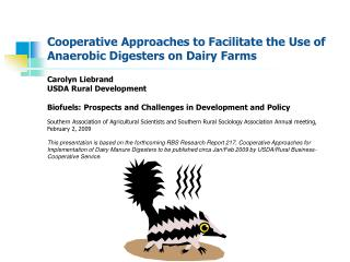 Cooperative Approaches to Facilitate the Use of Anaerobic Digesters on Dairy Farms