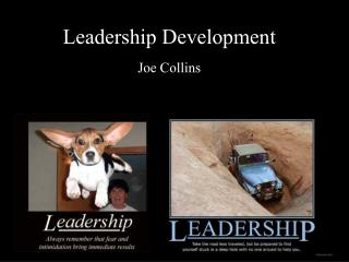 Leadership Development Joe Collins