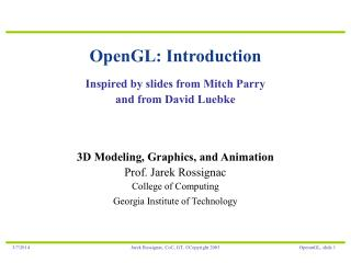 OpenGL: Introduction
