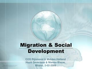 Migration & Social Development