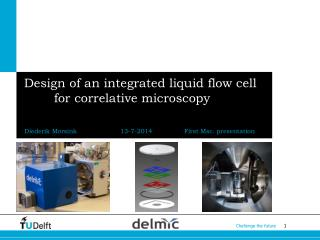 Design of an integrated liquid flow cell for correlative microscopy