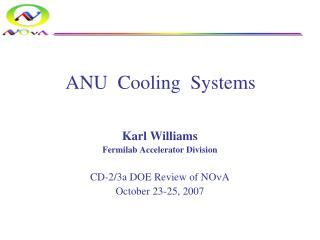 ANU  Cooling  Systems