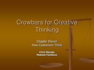 Crowbars for Creative Thinking