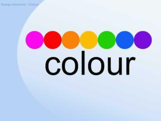 Design elements - Colour