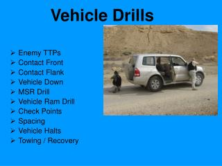 Vehicle Drills
