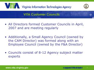 VITA Customer Councils