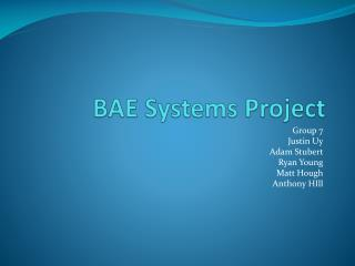 BAE Systems Project