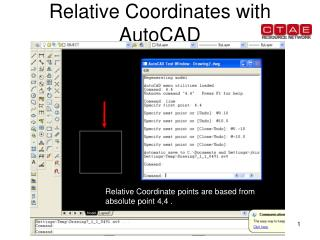 Relative Coordinates with AutoCAD