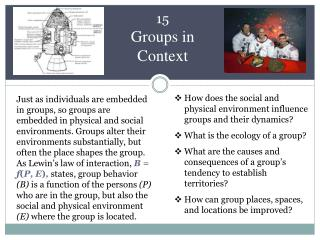 15 Groups in Context
