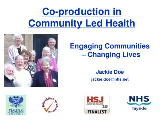 Co-production in Community Led Health