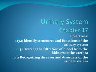 Urinary System Chapter 17
