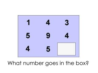 What number goes in the box?