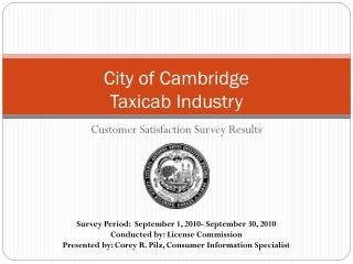 City of Cambridge  Taxicab Industry