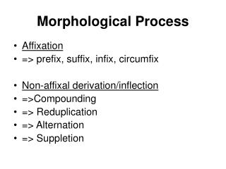 Morphological Process