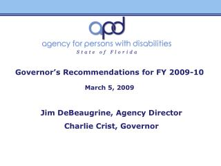 Governor's Recommendations for FY 2009-10 March 5, 2009