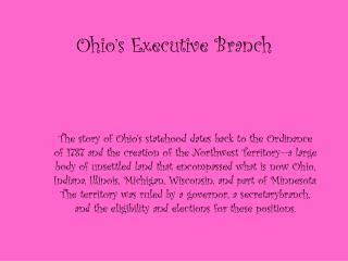 Ohio's Executive Branch