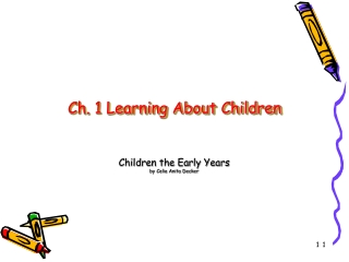 The Developing Child Chapter 1 Learning About Children