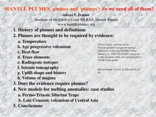 MANTLE PLUMES, plumes and 'plumes': d o we need all of them?
