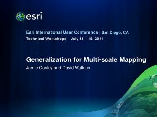 Generalization for Multi-scale Mapping