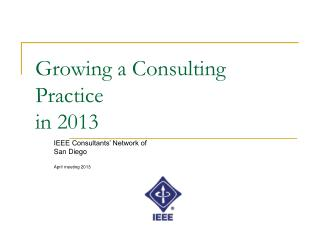 Growing a Consulting Practice in 2013