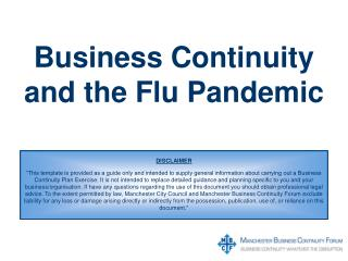 Business Continuity and the Flu Pandemic
