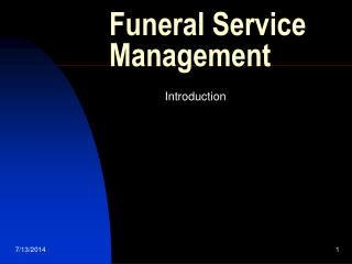 Funeral Service Management