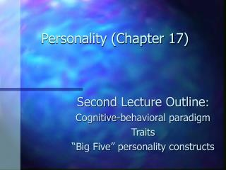 Personality (Chapter 17)