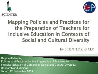 Mapping Policies and Practices for the Preparation of Teachers for Inclusive Education in Contexts of Social and Cultura