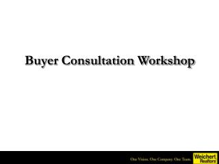Buyer Consultation Workshop