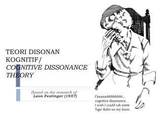 TEORI DISONAN KOGNITIF/  COGNITIVE DISSONANCE THEORY