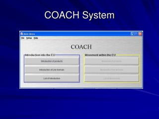 COACH System