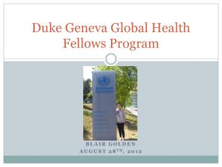 Duke Geneva Global Health Fellows Program