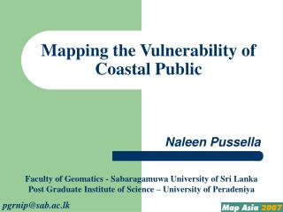 Mapping the Vulnerability of Coastal Public