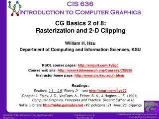 CIS 636 Introduction to Computer Graphics