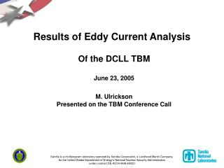 Results of Eddy Current Analysis