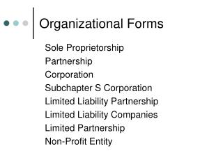 Organizational Forms